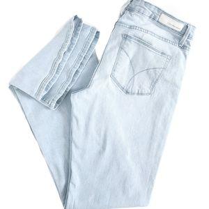 Calvin Klein Jeans Blue Destressed Flair Jeans